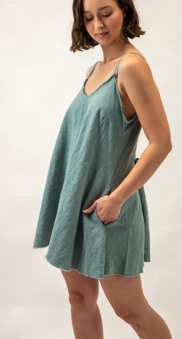 plus size linen dress australia